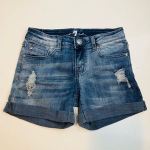 Super cute blue denim shorts for girls